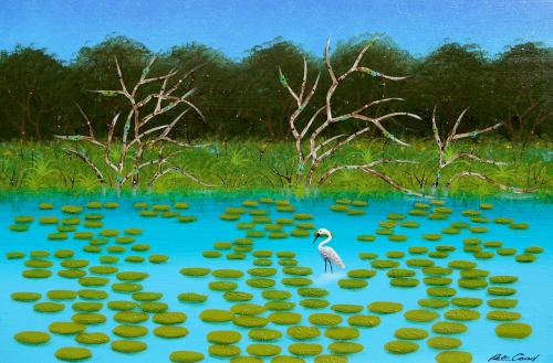 Lagoon 2 - Byron Bay Series 60cm x 90cm canvas
